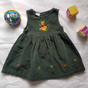 The Disney Store Winnie the Pooh Green Dress